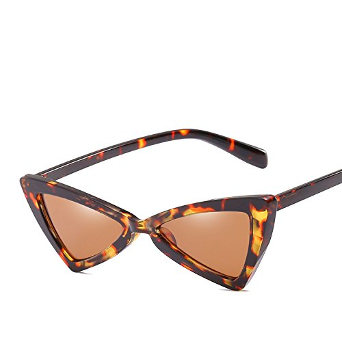 Bow Flat Mirror - Europe bow personality triangle men and women general sunglasses,Transparent frame flat mirror