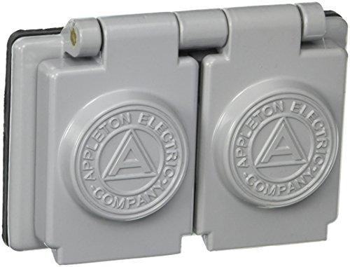 (Appleton FSK-WRD Cover, Duplex, 1 Gang, CF Aluminum, 1-3/8
