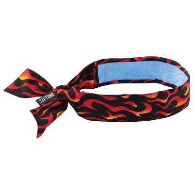 Ergodyne Flames Chill-Its 6700CT PVA Evaporative Cooling Bandana With Tie Closure