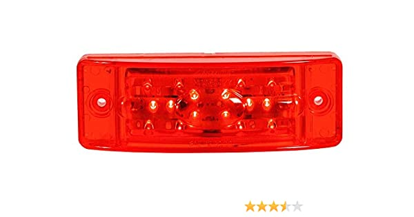 Maxxima M20391R Red 2 x 6 Reflectorized Combination Clearance Marker LED Light