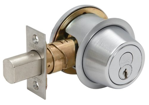 (Falcon D231P 626 C Keyway D200 Series Grade 2 Non-Handed Medium Duty Deadlock, Deadbolt Chasis, Double Cylinder, Schlage C Keyway, 6 Pin Conventional Cylinder, Keyed Different, Satin Chrome Finish )