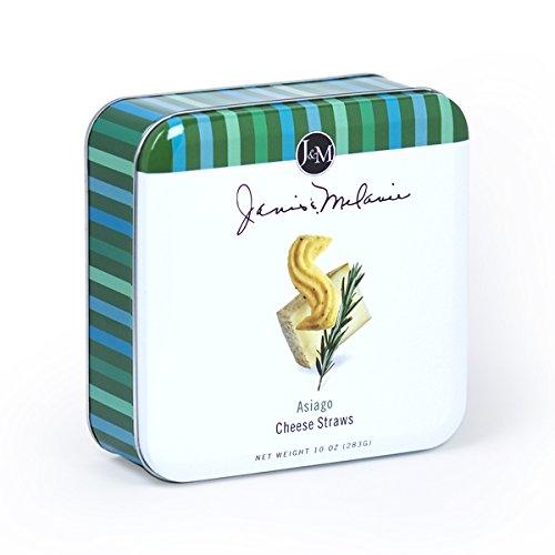 Janis & Melanie Cheese Straws Tin 10 Ounce (Asiago Cheese)