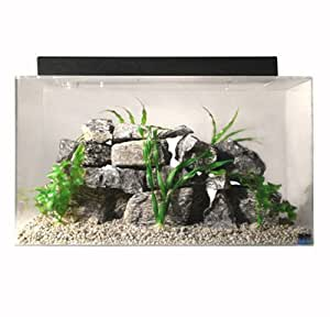 "SeaClear 20 gal Acrylic Aquarium Combo Set, 24 by 13 by 16"", Cobalt Blue"