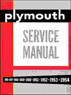 amazon com 1946 1951 1952 1953 1954 plymouth shop service manual rh amazon com