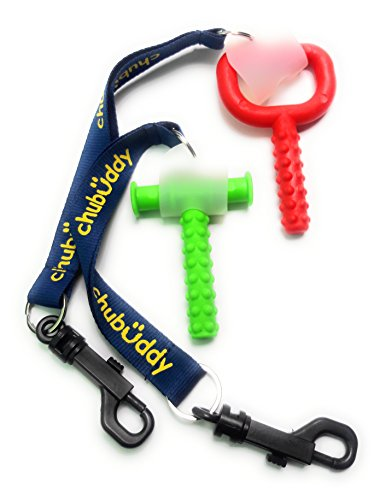 "chubuddy Chewy Holder Combo Pack Set (2) WITH Chewy Tube & Super Chew INCLUDEDChewy Tubes is a registered mark of Speech Pathology Associates, LLC ."" (Buddy Bracelet Set)"