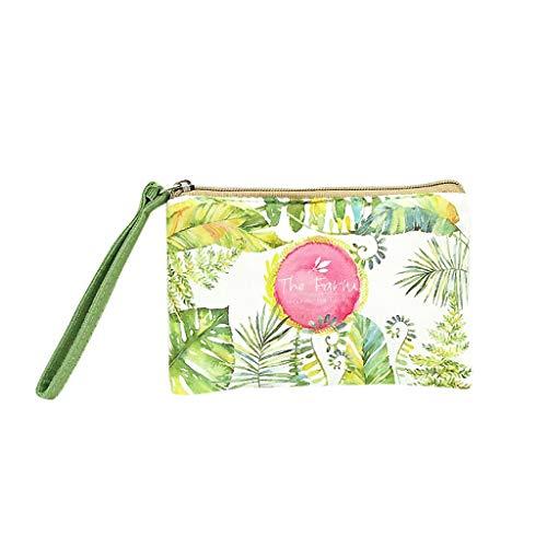 JJLIKER Women Girl Cute Pattern Print Zipper Wallet Clutch Coin Key Bag Fashion Purse Messenger Handbag Small Crossbody