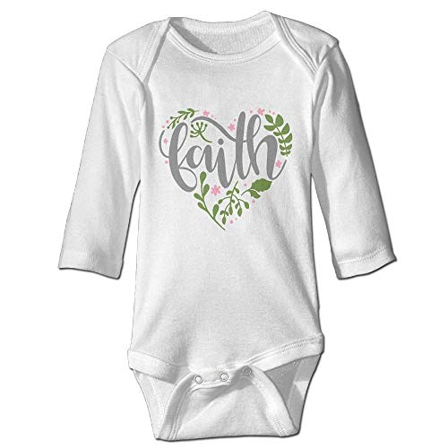 ineieepk Faith Spring Newborn Cotton Jumpsuit Romper Bodysuit Onesies Infant Boy Girl ()