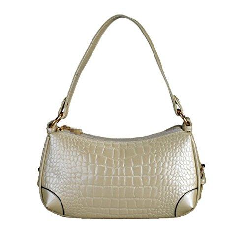 Crocodile Textura Bolsa Impermeable Bolsa Bolsa De Hombro Bolsa De La Sra. Para Las Mujeres Multicolor Gold