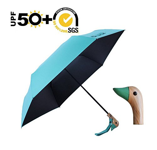 Duck Head Handle Umbrella,UPF 50+Anti UV Windproof Rain or Shine Folding Animal Quality Travel Umbrella - 13 Duck Umbrella
