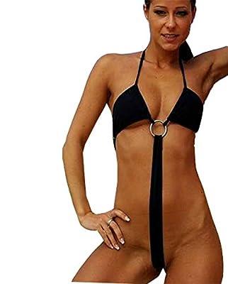 Honanda Women's Sexy Extreme Sling Shot G String Micro Bikini Panties Teddy Lingerie