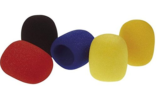 HQ Power MICWCS - Almohadilla para micrófono (5 unidades), multicolor 80917-575489