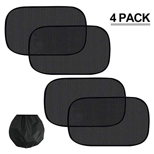 LOAZRE Car Window Shade, Sun, Glare and UV Rays Protection for Your Child -Baby Side Window Car Sun Shades - (4 Pack)