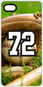 iphone covers Baseball Sports Fan Player Number 72 Clear Plastic Decorative Iphone 5 5s Case