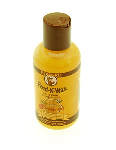 Howard FW0004 Feed-N-Wax Wood Polish and Conditioner, 4.7-Ounce by Howard Products
