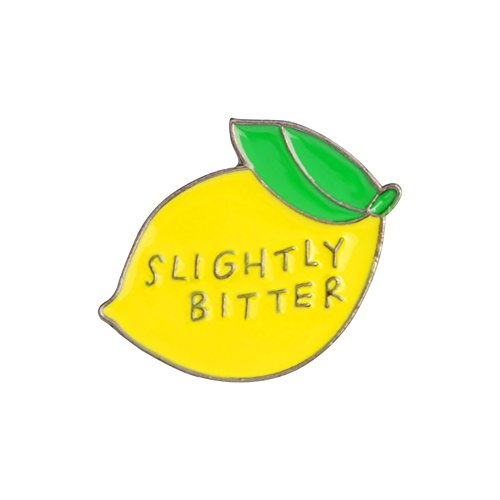 eroute66 Cute Slightly Bitter Lemon Enamel Brooch Pin Backpack Hat Bag Accessory Badge - Yellow -