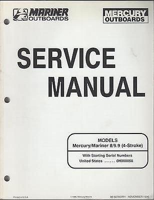 1997 Mariner/Mercury Outboard 8 & 9.9 (4-Stroke) Service Manual (202)