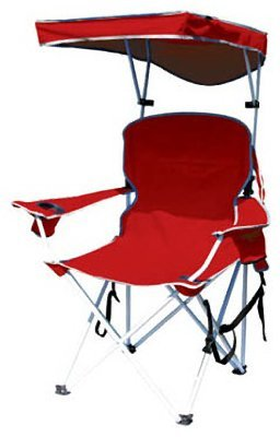 (Bravo Sports 149578 Four Seasons Courtyard Shade Chair with Canopy and Carry Case, Red Polyester)