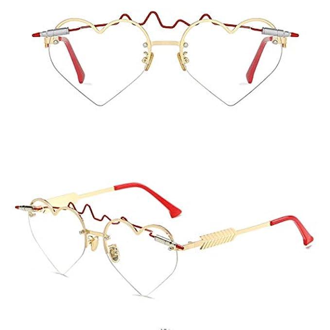 Cuore A Di Specchio Heart Versatile Viaggio colore Femminili Love Ins Occhiali Forma Solare C Sole Da Moda