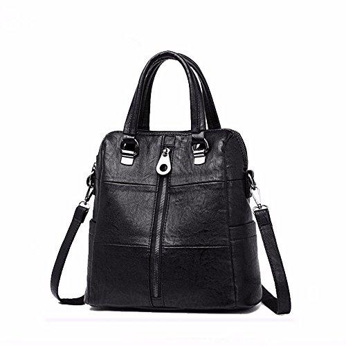 Hombro Vintage Casual para Mujer Pequeño Clutch Wristlet Hombro Cross-Body Bags con Muchos Bolsillos Soft PU Leather Shoulder Large Capacity Violet black
