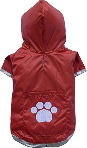 Raincoat 2 Legs Red - Big Dog Bd012-Xs Von Doggydolly by Doggy Dolly