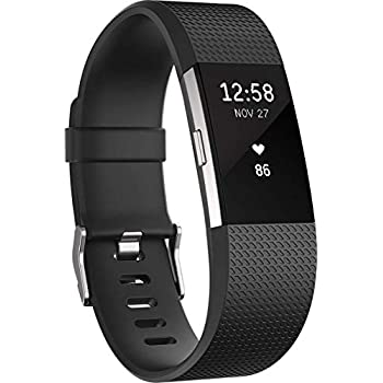 Image of Activity & Fitness Trackers Fitbit Charge 2 Heart Rate + Fitness Wristband, Black, Large (International Version)