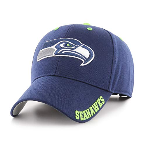 NFL Seattle Seahawks Blight OTS All-Star Adjustable Hat, Light Navy, One Size