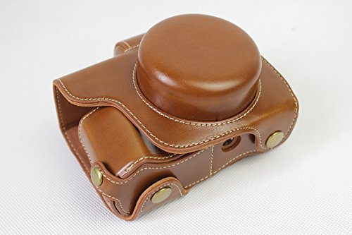 E-M10 Mark III Case, BolinUS PU Handmade Leather FullBody Ca