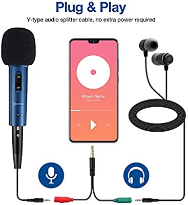 Eivotor Recording Microphone For Mobile Phone And Pc Amazon De Computers Accessories