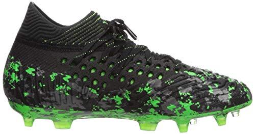 PUMA Unisex Future 19.1 Netfit FG/AG JR Sneaker, Black-Charcoal Gray-Green Gecko, 5 M US Big Kid by PUMA (Image #7)
