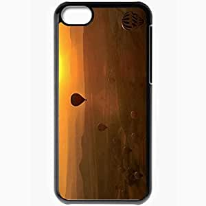 Personalized iPhone 5C Cell phone Case/Cover Skin Balloons sunset Black