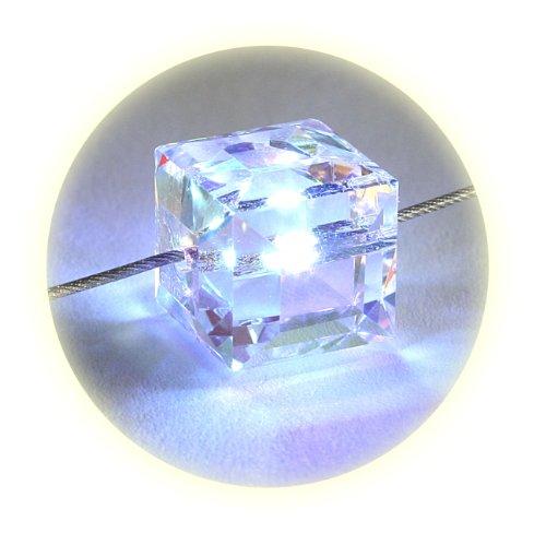 Led Crystal Necklace (Firejewel LED Crystal Cube Necklace -)