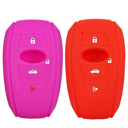 2Pcs Coolbestda 4buttons Key Fob Cover Skin Remote Case K...
