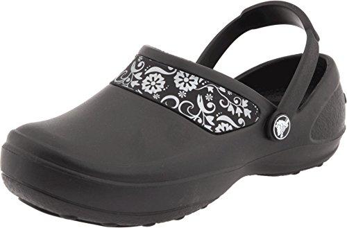 Crocs Women's Mercy Work Clog, Black/Silver, 10 M US