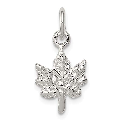 (Jewelry Adviser Charms Sterling Silver Maple Leaf Charm )