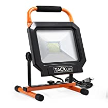 Work Light, Tacklife 5000LM 50W LED Work Light, The Best Heat Dissipation, IP65 Waterproof Flood Lights, 360/270 Degree Adjustable Lighting Angles | LWL3B