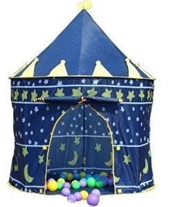 Printemps ou princesse Été Château du palais Enfants enfants Jouer Tente maison jardin intérieur ou extérieur jouet maison à la maison Maison de théâtre plage sol tente garçons filles (Blue Prince) product image