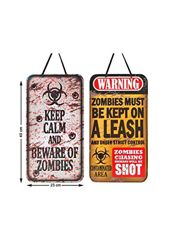 DISBACANAL Cartel Zombies para Halloween - Amarillo: Amazon ...