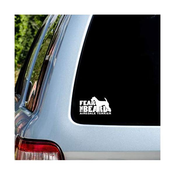 Fear the Beard Airedale Terrier Car Window Vinyl Decal Sticker 2
