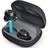 Bluetooth 5.0 Wireless Earbuds - MEBUYZ Noise Canceling Headphones, 60 H Playtime with Charging Box, True Wireless Built-in Mic Hands Free Call in-Ear Earpiece, Waterproof Sport Earphones Headset