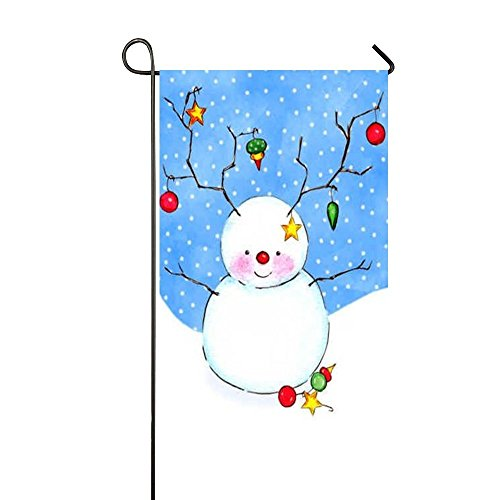 Fat Snowman - Dora's Flag Red Fruits Decoration Fat Cute Snowman 12.5x18 Inch Garden Flag - Double Sided Holiday Decorative Outdoor House Flag