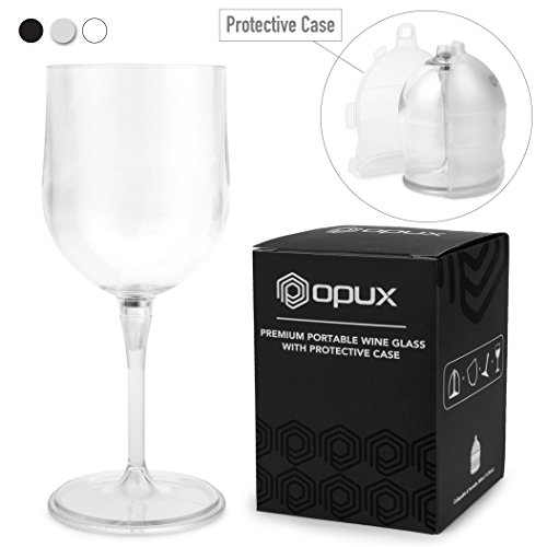 Elegant Portable Collapsible Wine Glass | Unbreakable, Shatterproof Clear Plastic Wine Glass | BPA FREE, Dishwasher Safe, Detachable Stem Wine Cup | Perfect for Camping, Outdoor, and ()