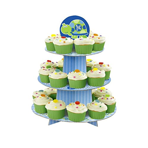 Turtle 1st Birthday Tiered Cupcake Tree (1ct)