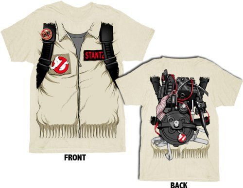 [Ghostbusters Executioner Stantz Full Costume with Backpack Print Sand Adult T-shirt Tee (Adult] (Ghostbuster Costume Backpack)