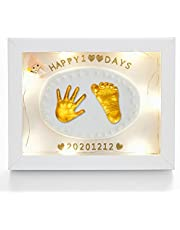 Baby Handprints and Footprints Jewelry Souvenir Set Baby Handprint Kit and Footprint Photo Frame Clay Kit 3D Baby Souvenir Set Handprints Footprints Soft Clay Photo Frame Newborn