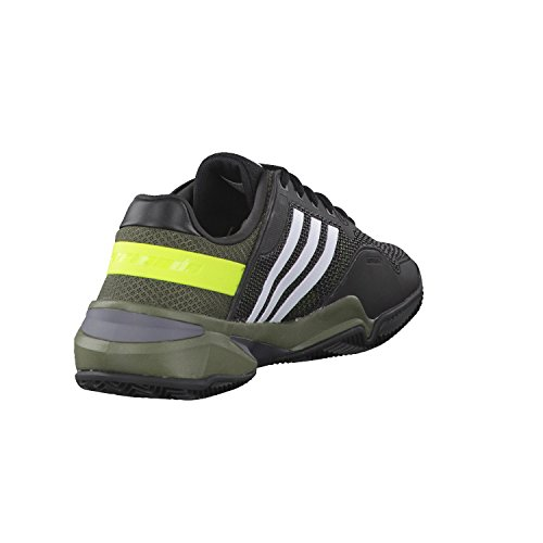 adidas Zapatillas de Tenis Para Hombre Negro/Rojo/Amarillo, Color, Talla 6.5