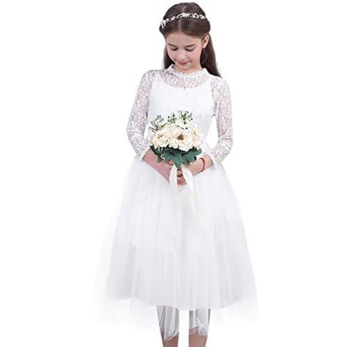 Vestidos blancos de fiesta de nina
