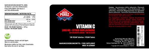 Vitamina C 1000 mg + Bioflavonoides - Liberado en el tiempo - 100 tabletas veganas 2