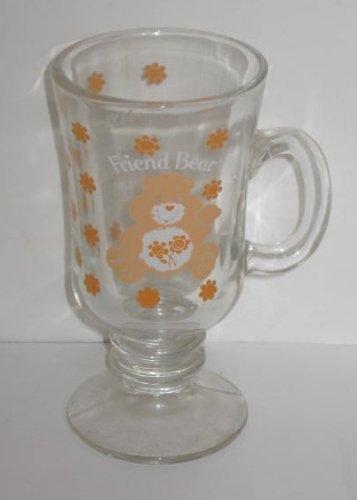 Vintage 1984 American Greetings Care Bears Glass Mug - Friend Bear