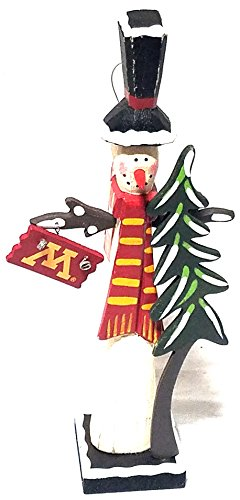 University of Minnesota Snowman with Tree and U of M Sign