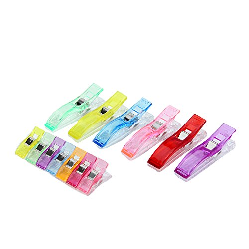 100Pcs Plastic Clips Clamp Craft Holder Accessory for Sewing Filling Quilt Patchwork